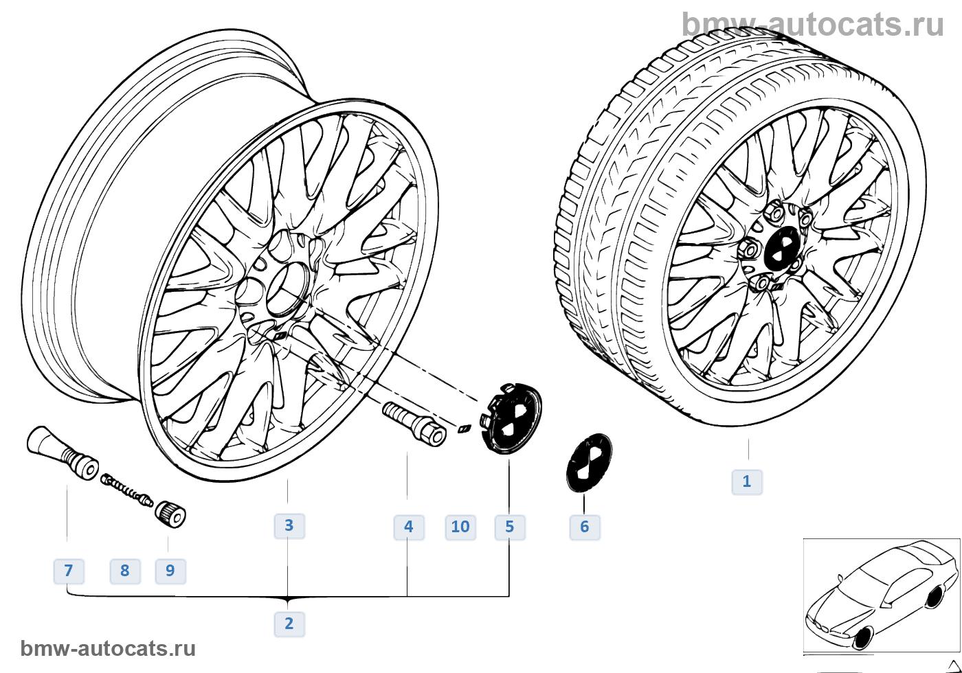Л/c диск BMW с V-образными спицами 72