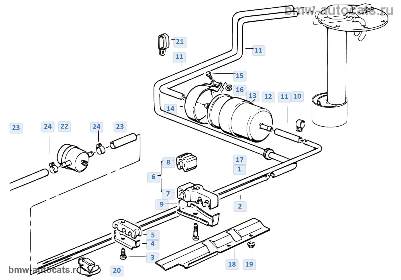 Система подачи топлива/одинарный фильтр
