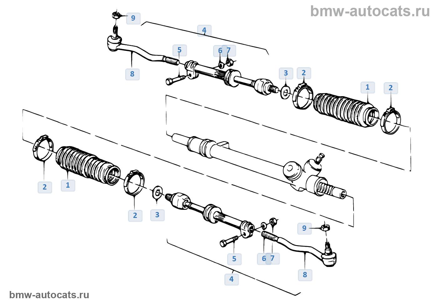 Рулевые тяги/тяги рулевой трапеции