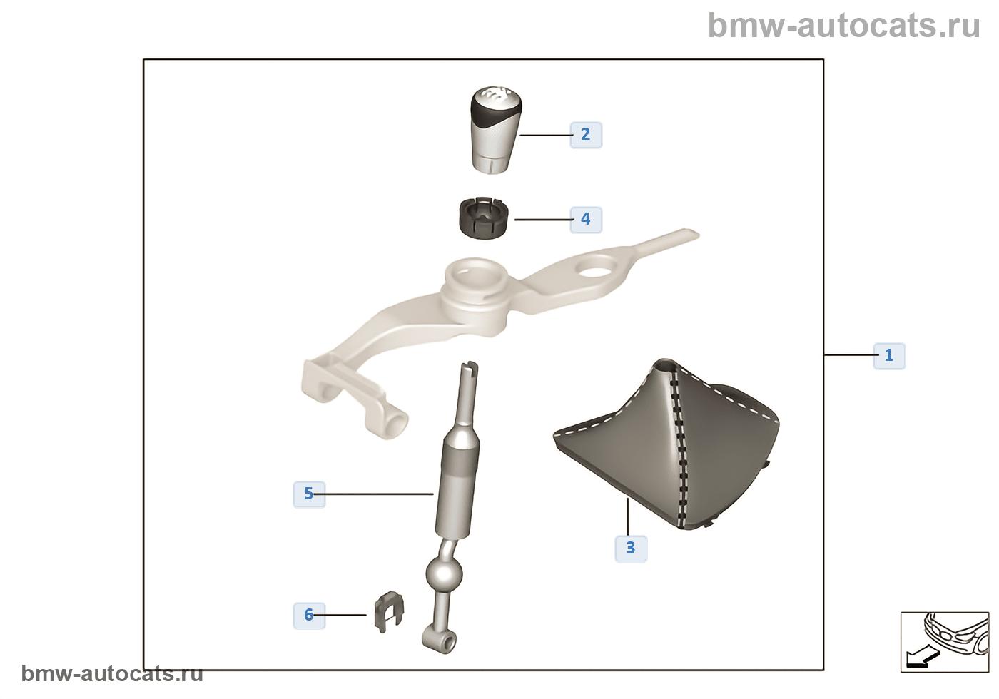 Схема переключ. МКПП BMW