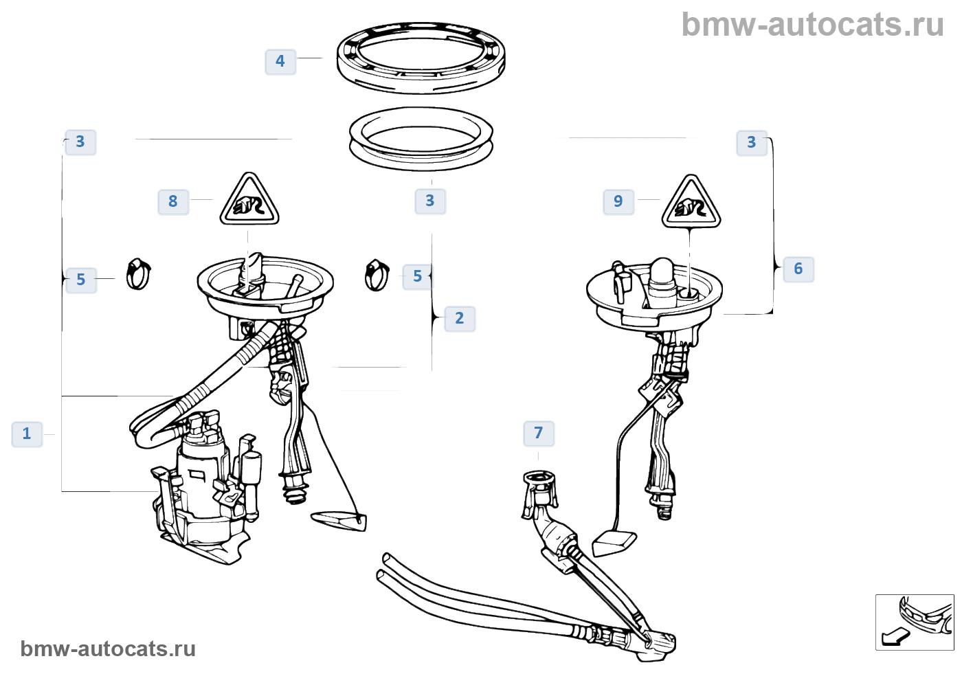 автономная система отопления BMW e38
