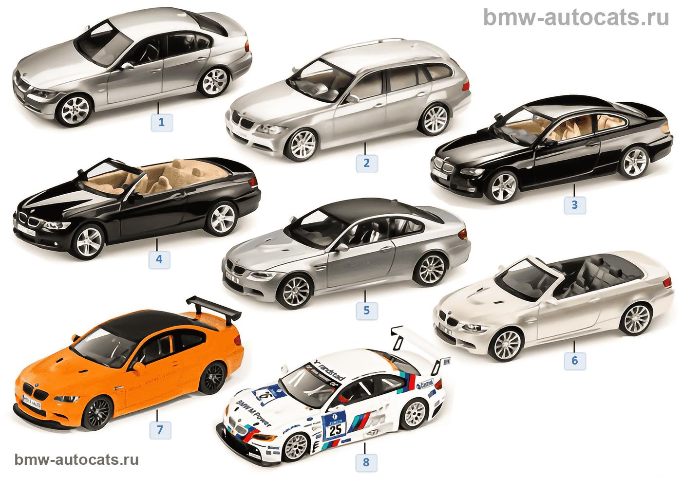 Миниат.модели BMW — BMW 3-й сер.2010/11