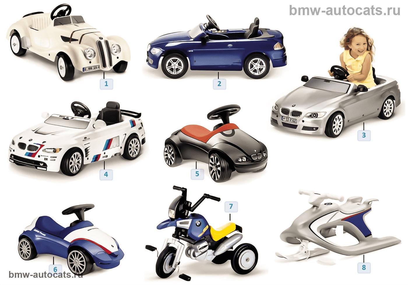 BMW Kinderprogramm — Fahrzeuge 2011/12