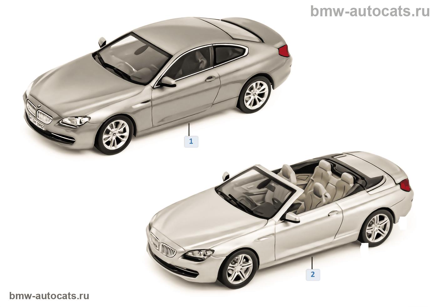 Миниат.модели BMW — BMW 6-й сер.2011/12