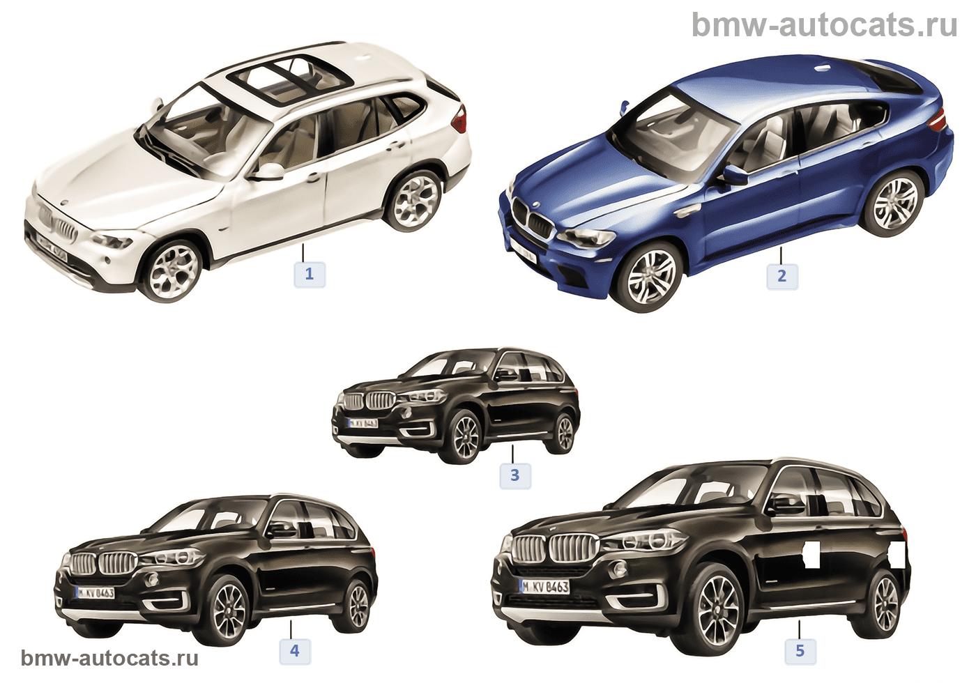 Миниат.модели BMW — BMW X 13/14