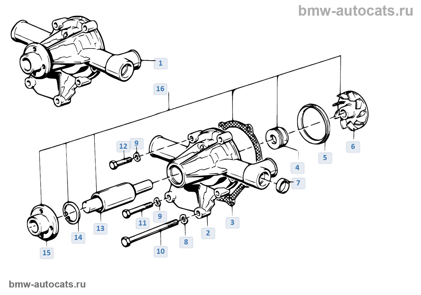 bmw e28 m10 шланги системы охлаждения
