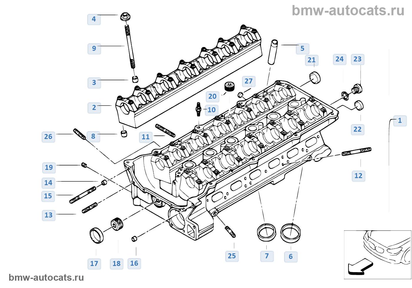 головка блока цилиндров на BMW e46