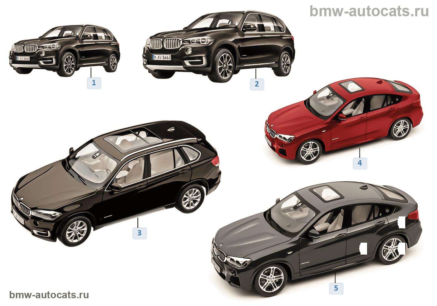 Миниат.модели BMW — BMW серии X 14/16