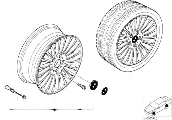 Л/с диск BMW с радиальными спицами 73