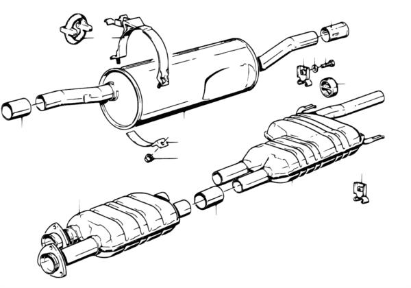 Система выпуска ОГ без катализатора