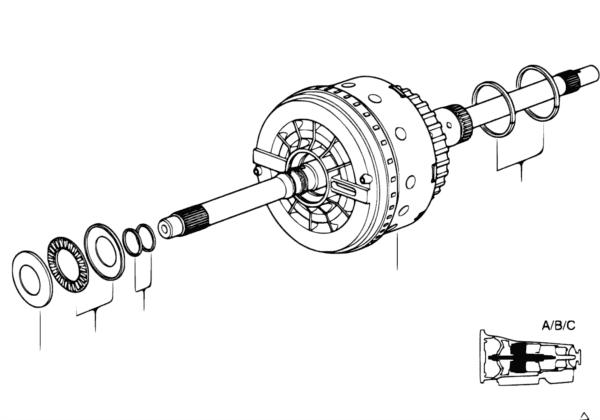 A5S560Z Приводная муфта A/B/C
