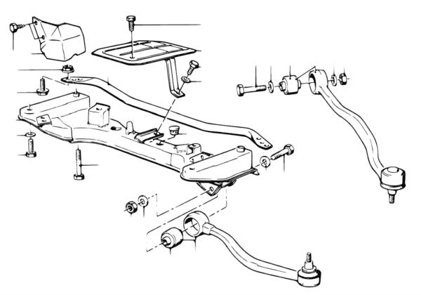 Балка переднего моста/поперечный рычаг