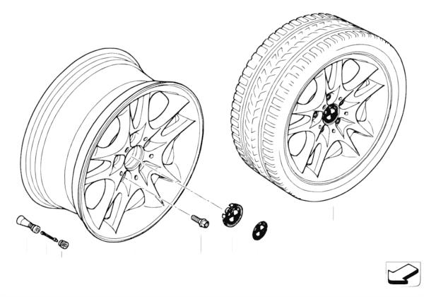 Л/c диск BMW со сдвоенными спиц.диз.111