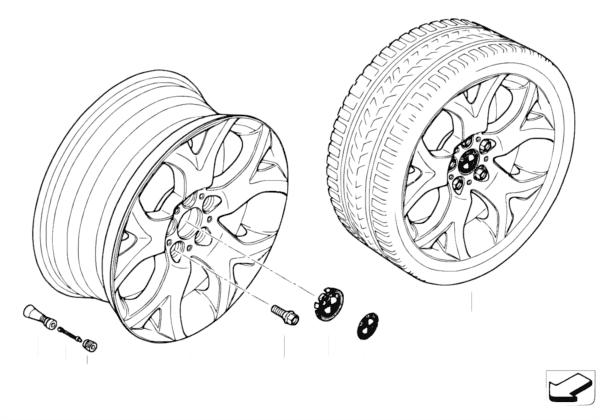 Л/с диск BMW c Y-обр.спицами диз.114