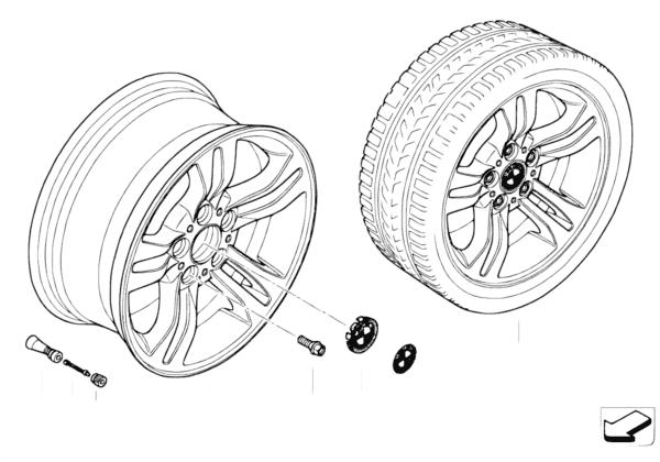 Л/c диск BMW со сдвоенными спиц.диз.112