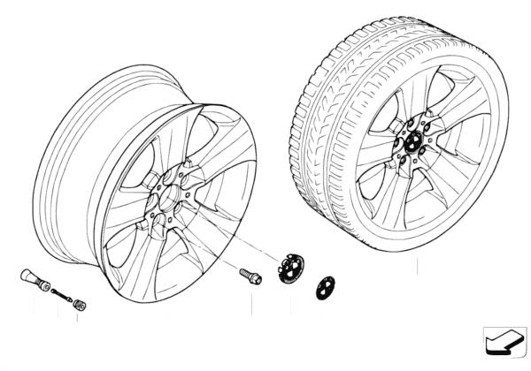 Л/c диск BMW со звездообр.спиц.диз.113
