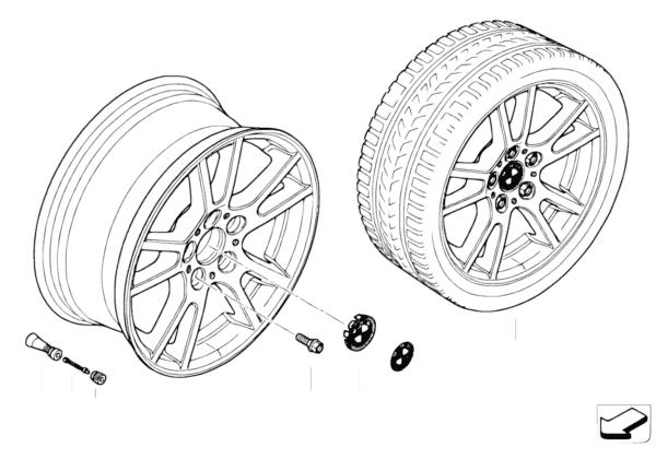 Л/c диск BMW со сдвоенными спиц.диз.148