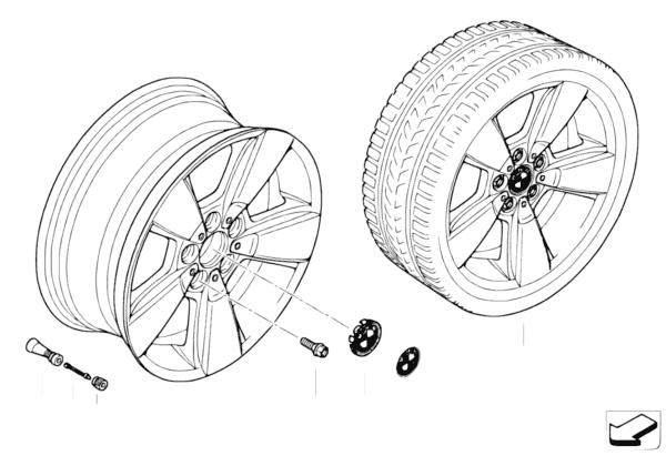 Л/c диск BMW со звездообр.спиц.диз.143