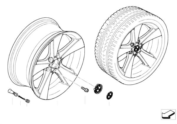 Л/c диск BMW со звездообр.спиц.диз.128