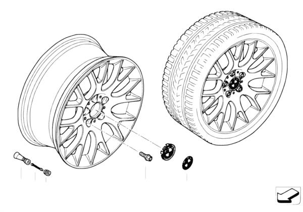 Л/с диск BMW с крестообр.спиц.диз.145