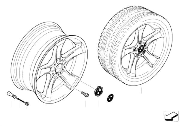 Л/c диск BMW со звездообр.спиц.диз.146