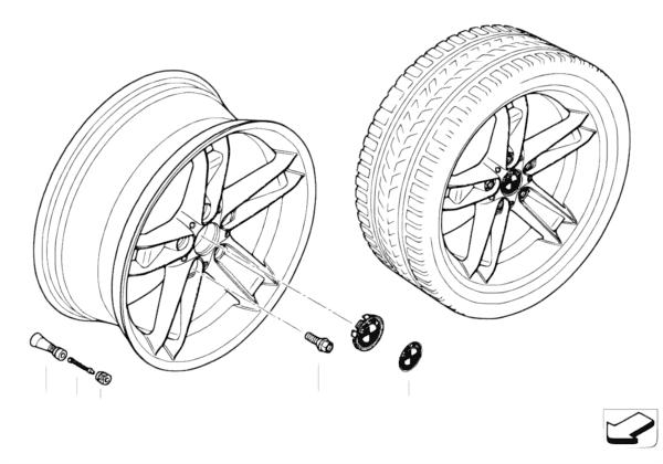 Л/c диск BMW со звездообр.спиц.диз.147
