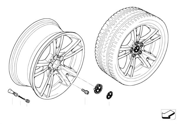 Л/c диск BMW со сдвоенными спиц.диз.150