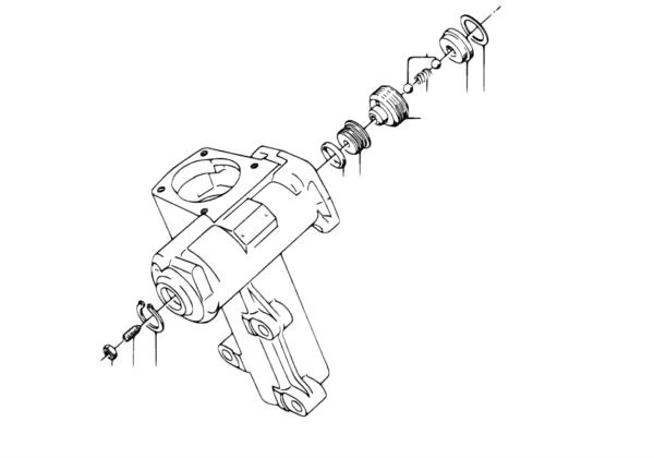 Детали рулевого механизма с гидроусилит.