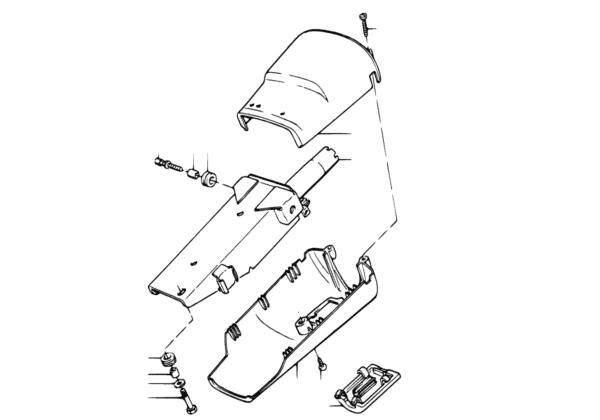 Труба рулевой колонки/облицовка