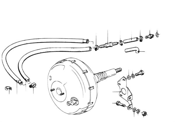 Усилитель тормозов/крепление