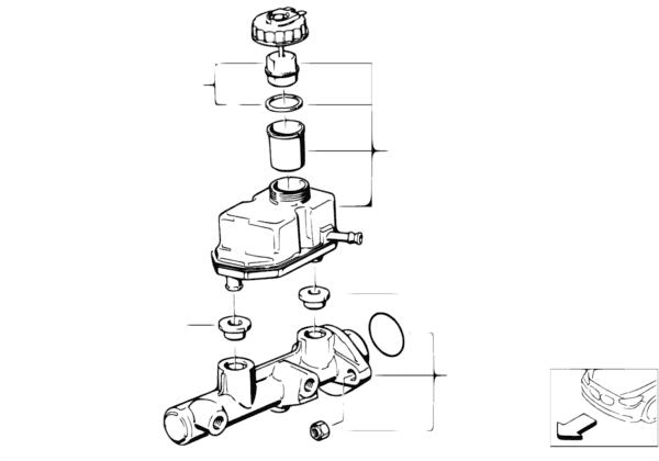 Главный тормозной цилиндр/бачок