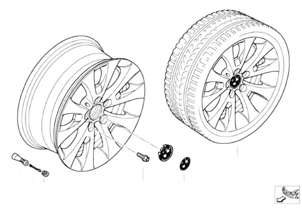 Л/c диск BMW с V-образн.спицами 206