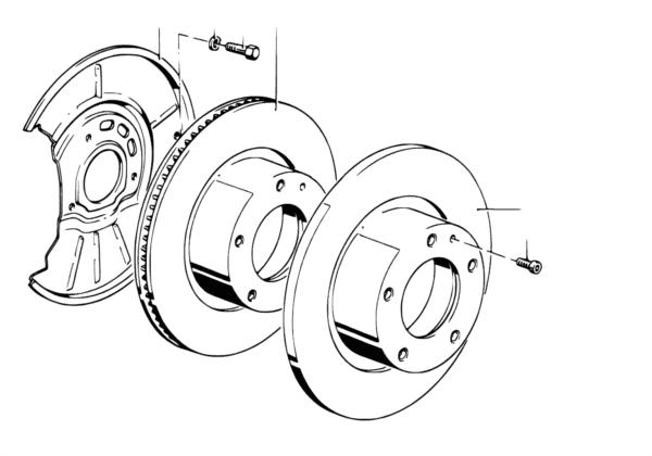 Диск тормозного механизма перед.колеса