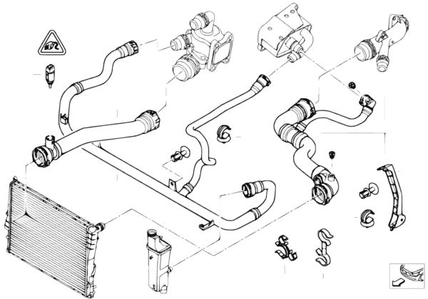 Схема системы охлаждения бмв фото 741