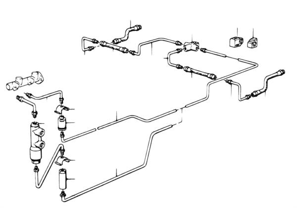 Трубопровод тормозного привода Зд