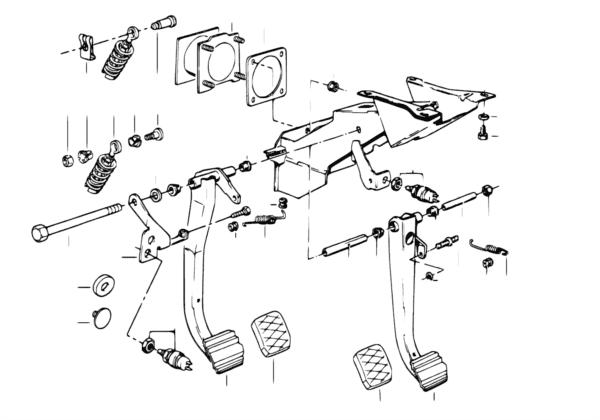 Педаль/выключатель стоп-сигналов