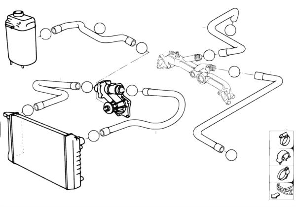 Водяной шланг системы охлаждения
