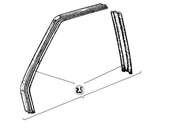 Направляющая стекла Пд