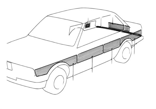 Декоративная полоса спецавтомобиля