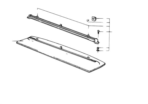 Полка/солнцезащитная штора