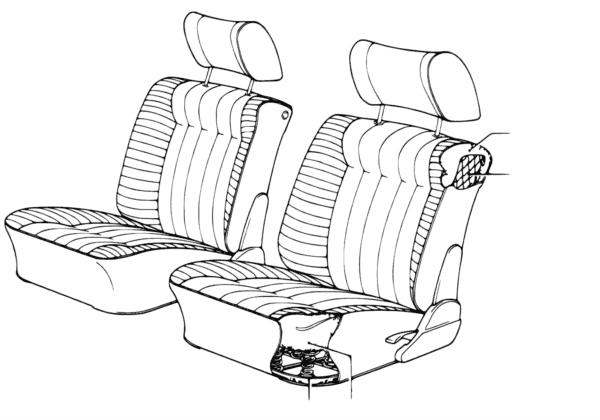 Пружинный каркас подушки сиденья П