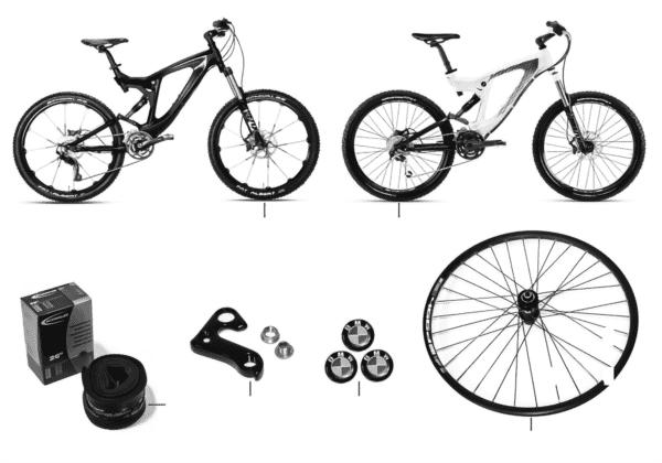 Зап.части BMW - горный велосипед Enduro