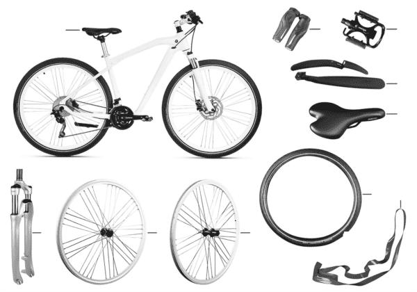 BMW зап.части-Cruise Bike белый 2412308
