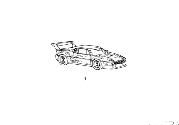 """Миниатюрная модель BMW 1:18 """"Art Car"""""""