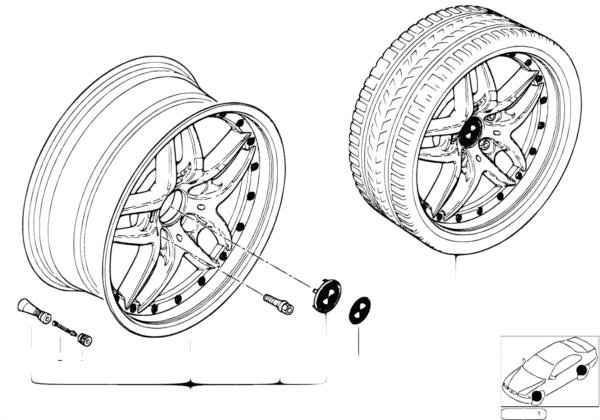 Сост.диск BMW со сдвоен.спицами диз. 71