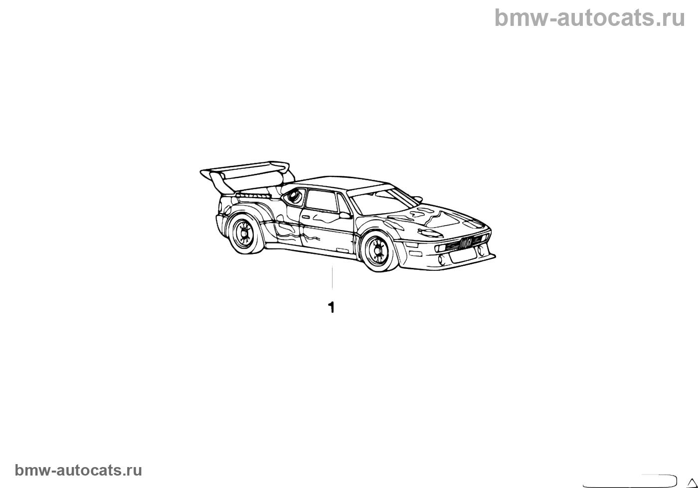 """Миниатюрн. модель BMW """"Motorsport"""" 1:18"""
